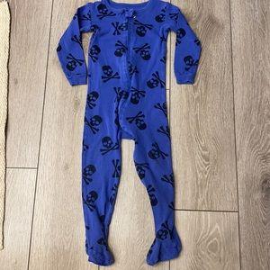 Leveret one piece skull pajamas 3year